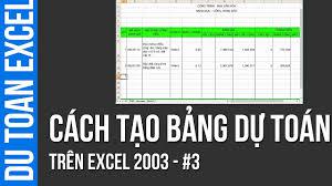 Đánh giá phần mềm dự toán trên excel