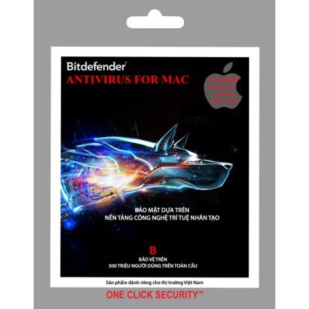 Phần mềm diệt virus Bitdefender Antivirus For Mac 1PC/1Y