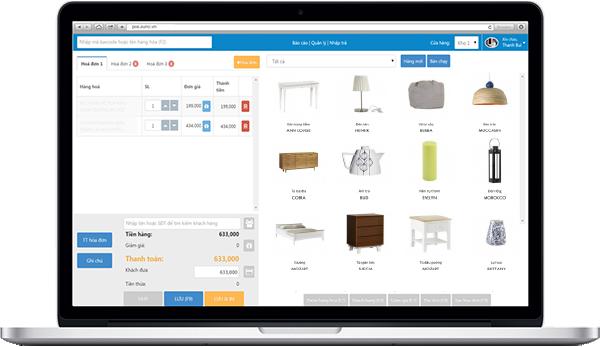 Phần mềm Suno - quản lý bán hàng cửa hàng nội thất, gia dụng