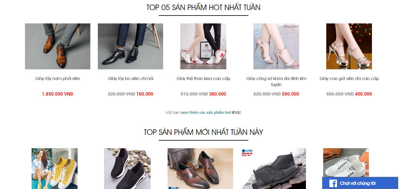 Tặng Website bán hàng theo mẫu cho các mặt hàng quần áo, giầy dép, đồ chơi...  cho tất cả những ai có nhu cầu.